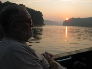 Dad and I have watched many sunrises together fishing on Patoka Lake
